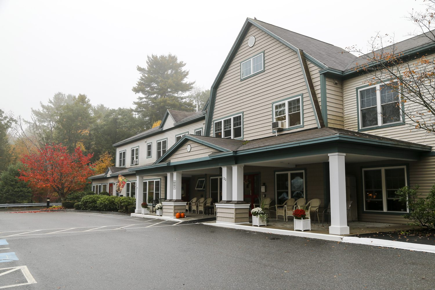 An exterior shot of the Inn at Village Square.